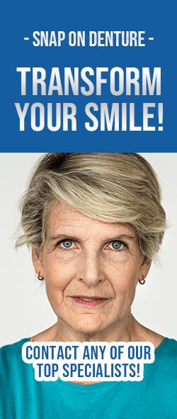 Ad Snap on denture procedure