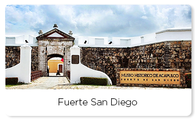 Front view of Fuerte San Diego