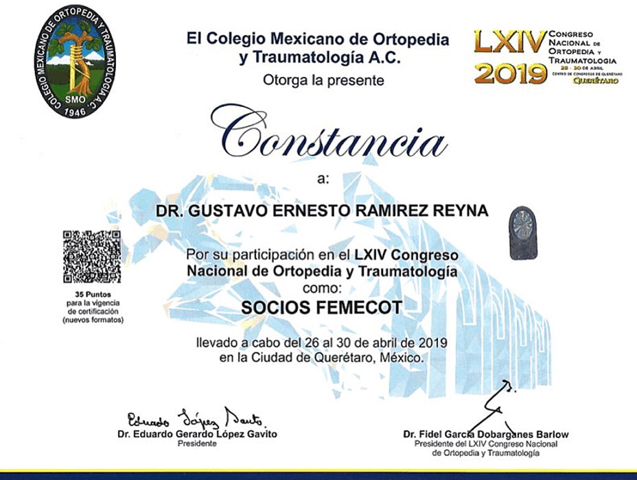Ajijic orthopedist doctor certificate