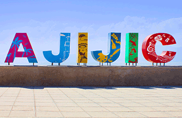 Letter sign with Ajijic name