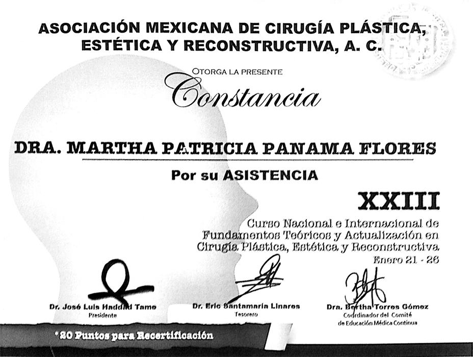 Cancun plastic surgeon doctor certificate