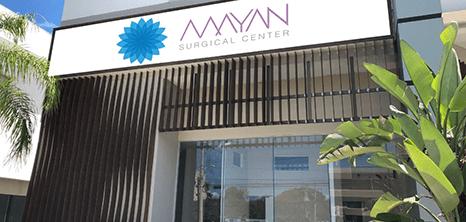 Cancun plastic surgery clinic entrance