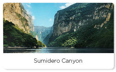 Mountains and river in the sumidero canyon