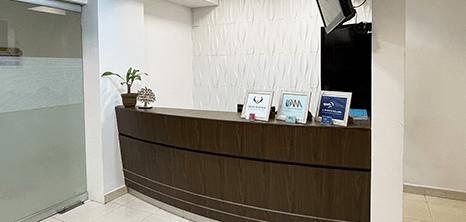 Ciudad Juarez orthopedist clinic lobby