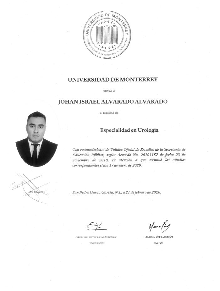 Ciudad Juarez Urologist doctor certificate