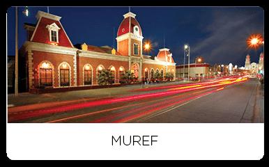 Muref museum at night