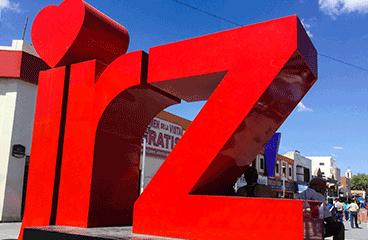 Letter sign with Ciudad Juárez name