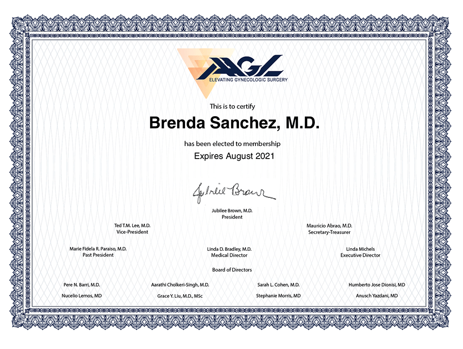 Mexico City Gynecologist doctor certificate