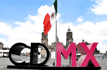 Letter sign with Mexico City name