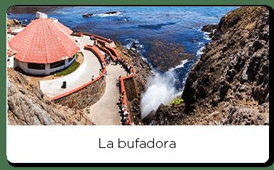 Upper view of the Bufadora