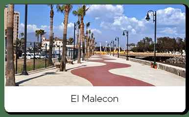 Street walk of the Ensenada's Malecon