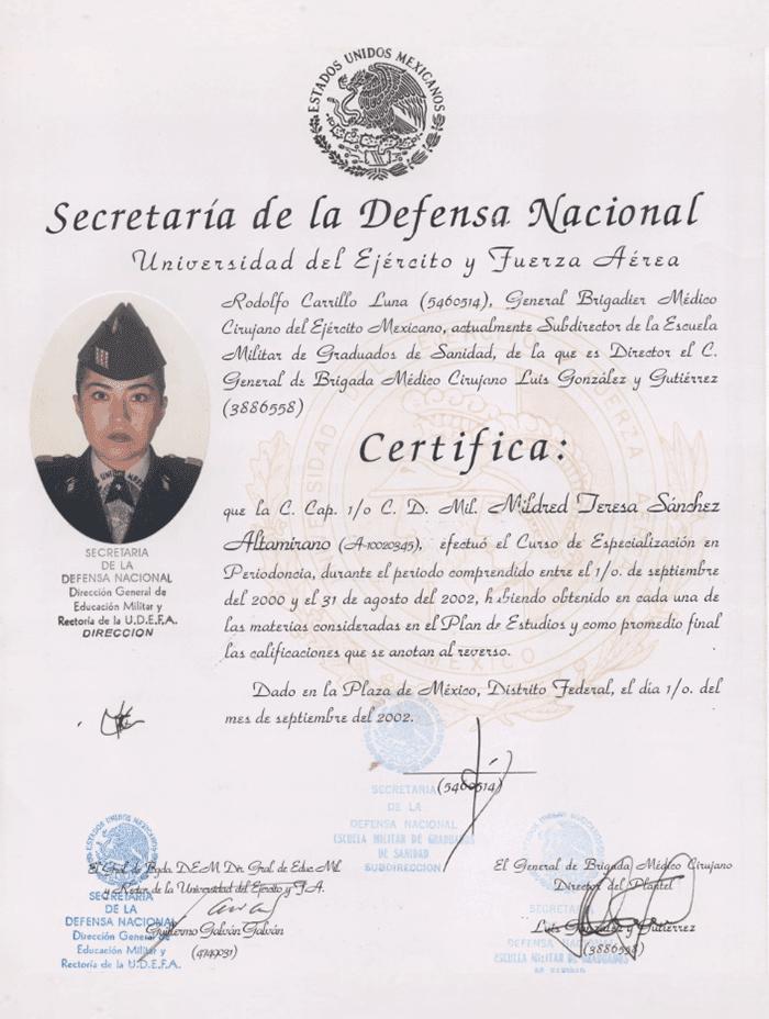 Mazatlan aesthetic doctor certificate