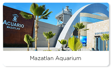 Front view of the Mazatlán aquarium