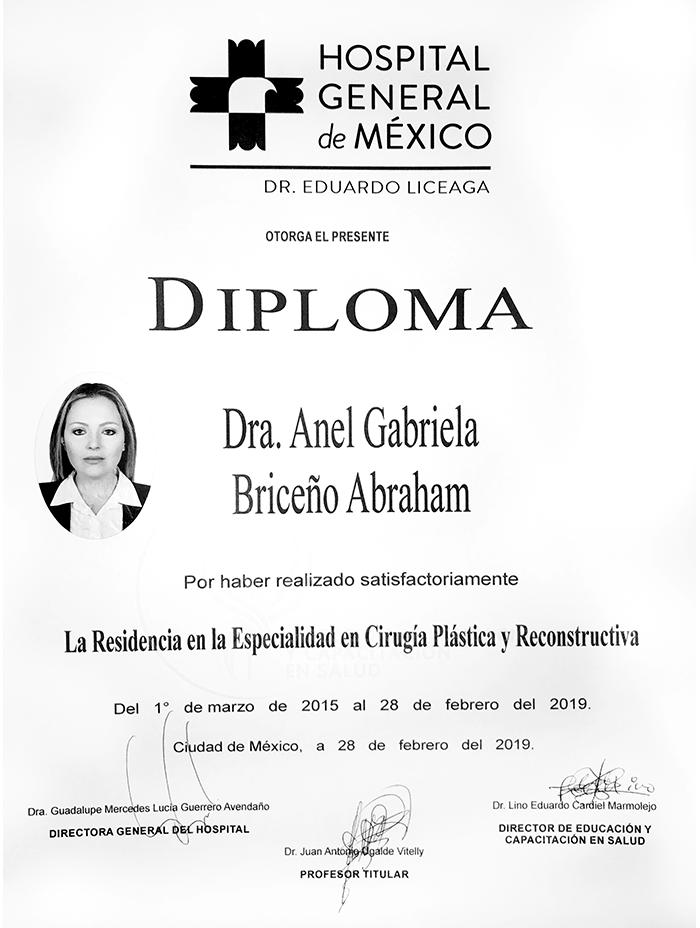 Merida plastic surgeon doctor certificate