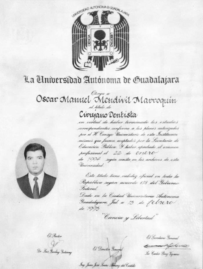 Mexicali maxillofacial doctor certificate
