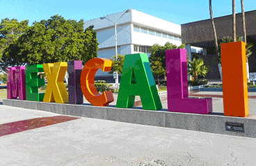 Letter sign with Mexicali name