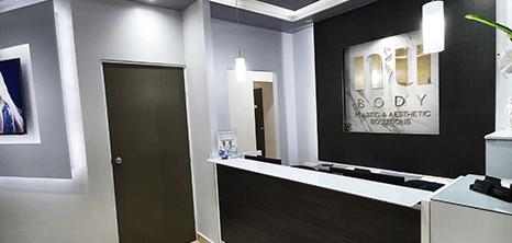 Monterrey plastic surgery clinic lobby