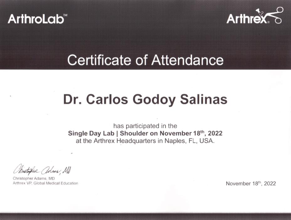 Monterrey orthopedist doctor certificate