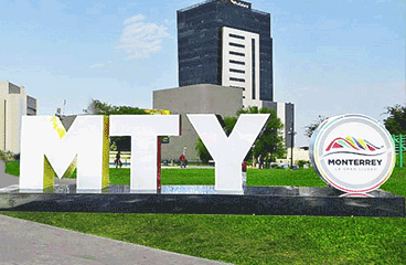 Letter sign with Monterrey name