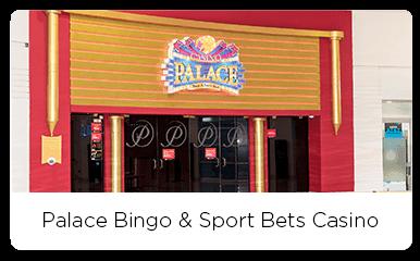 Main entrance of the palace bingo and casino