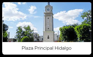 Clock of the main plaza hidalgo
