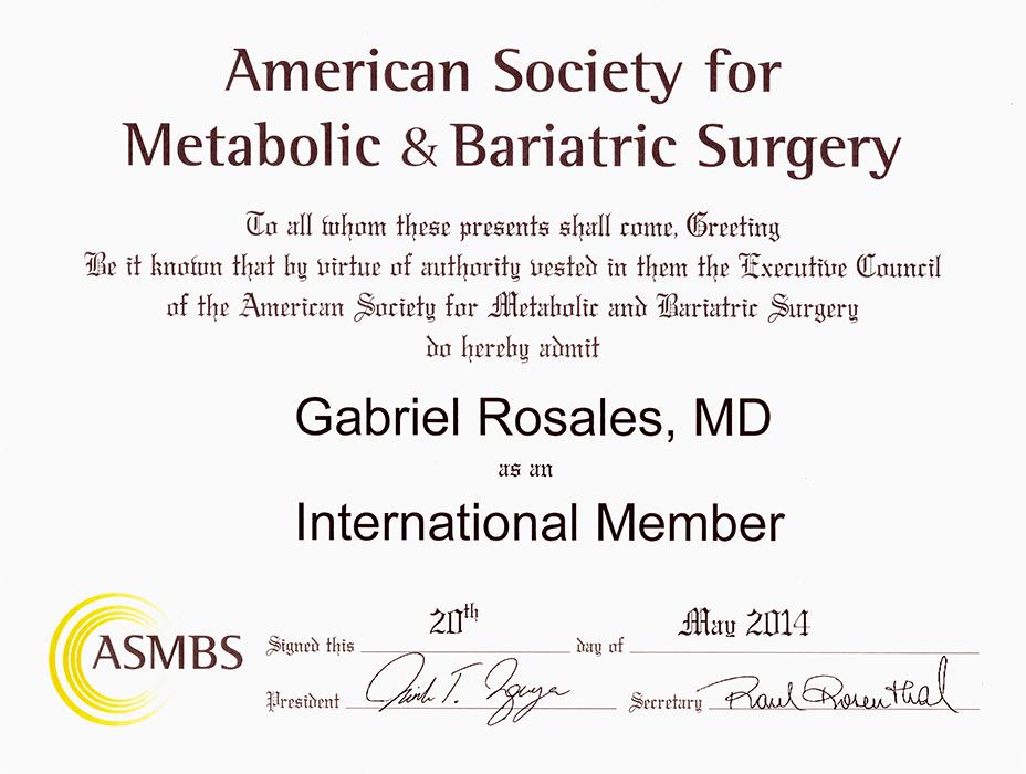 Piedras Negras bariatric doctor certificate