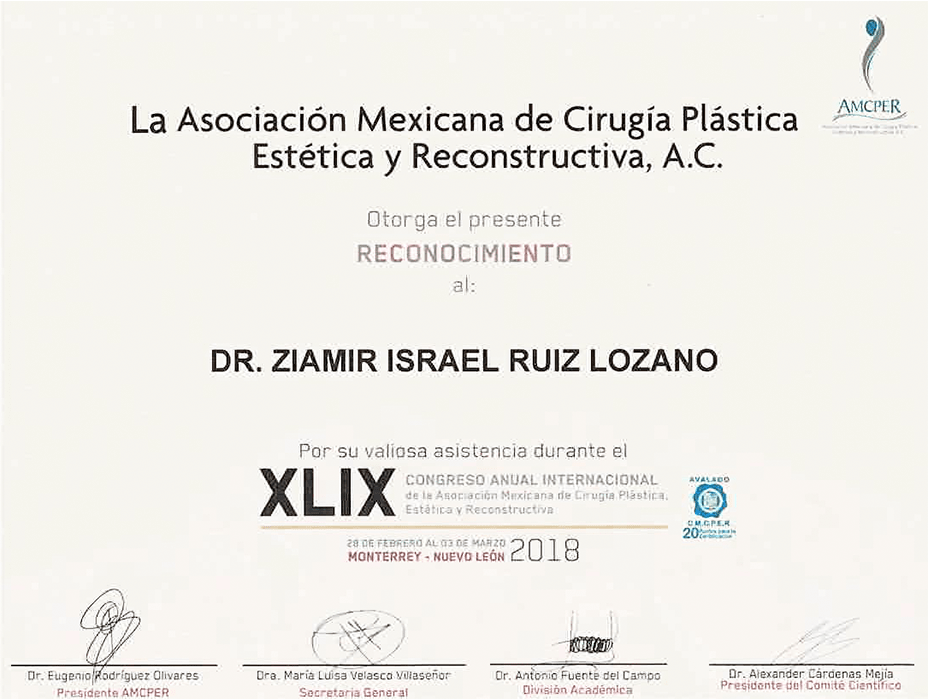 Piedras Negras plastic surgeon doctor certificate