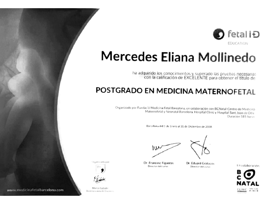 Queretaro Gynecologist Doctor Certificate