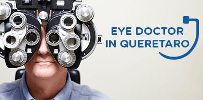 Male getting an eye exam