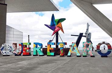 Letter sign with Querétaro name