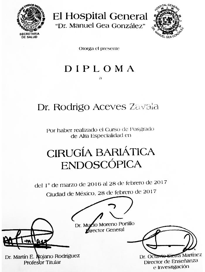 Reynosa bariatric doctor certificate