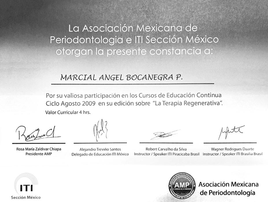 Reynosa dentist certificate