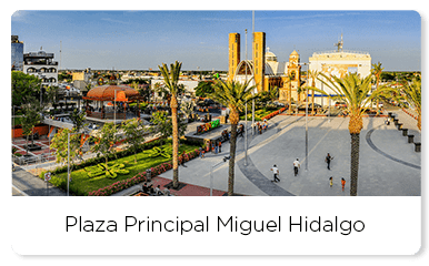 Aerial view of the Miguel Hidalgo main plaza