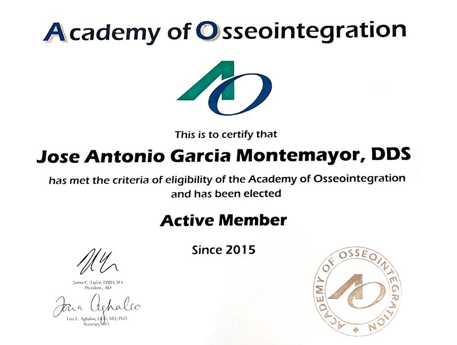 Los Cabos dentist certificate