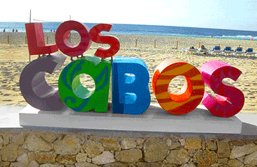 Letter sign with Los Cabos name