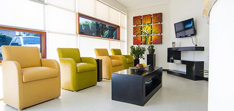 Tijuana plastic surgery clinic lobby