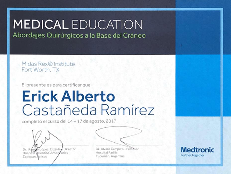 Tijuana Neurosurgeon certificate