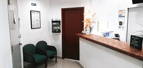 Tijuana dental clinic lobby