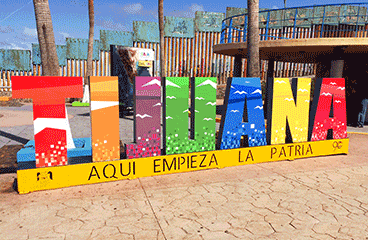 Letter sign with Tijuana name