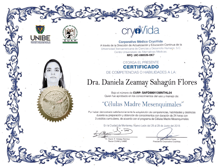 Vallarta aesthetic doctor certificate