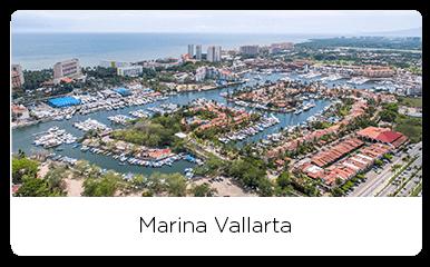 Aerial view of the marina Vallarta